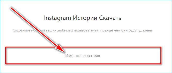 Введите имя Instagram